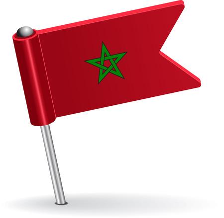 prick: Moroccan pin icon flag. Vector illustration
