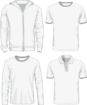 Set of male shirts. Vector illustration Vettoriali