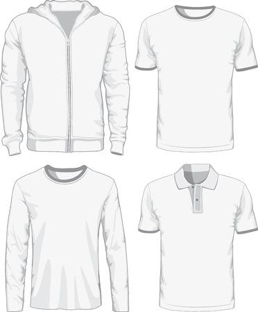 Set of male shirts. Vector illustration Illustration