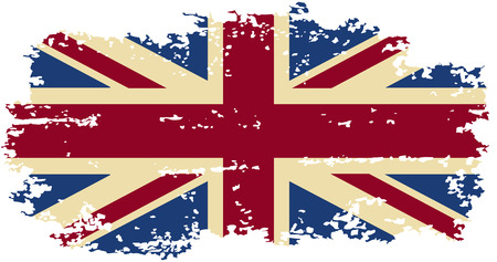 British grunge flag. Vector illustration. Grunge effect can be cleaned easily. Vector