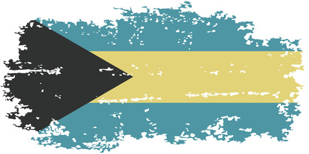 bahamas: Bahamas grunge flag. Vector illustration. Grunge effect can be cleaned easily. Illustration