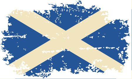 scottish flag: Scottish bandiera grunge. Illustrazione vettoriale.