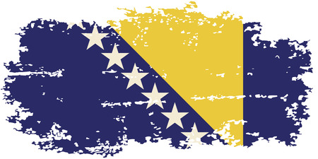 bosnia: Bosnia and Herzegovina grunge flag. Vector