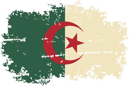 algerian flag: Algerian grunge flag. Vector illustration.