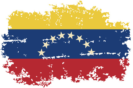 venezuelan: Venezuelan grunge flag. Vector illustration.