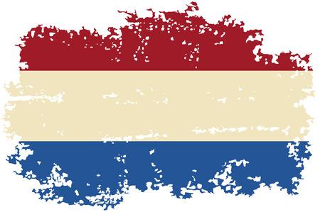 Dutch grunge flag. Vector illustration. Vector