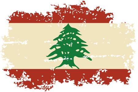Lebanese grunge flag. Vector illustration. Vector