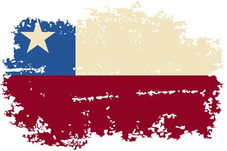 bandera chilena: Grunge bandera chilena. Ilustraci�n del vector.