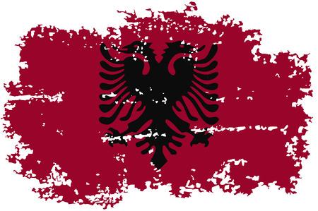 albanian: Albanian grunge flag. Vector illustration.