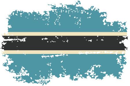 botswana: Botswana grunge flag. Vector illustration.