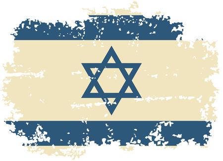 israeli: Israeli grunge flag. Vector illustration.