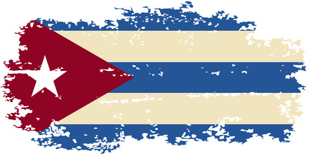 cuban flag: Cuban grunge flag. Vector illustration. Illustration