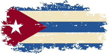 cubana: Grunge bandera cubana. Ilustraci�n del vector. Vectores