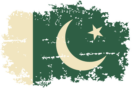 pakistani: Pakistani grunge flag. Vector illustration.