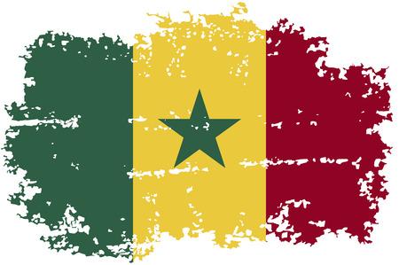 senegal: Senegalese grunge flag. Vector illustration. Illustration