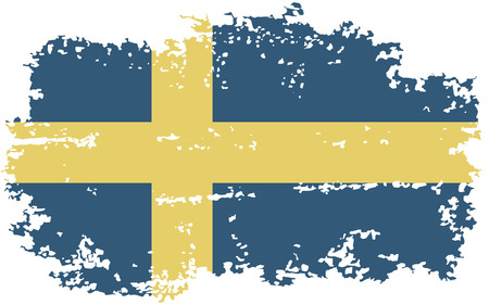 swedish: Swedish grunge flag. Vector illustration. Illustration