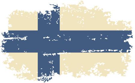 finnish: Finnish grunge flag. Vector illustration. Illustration