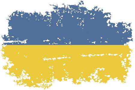 ukrainian: Ukrainian grunge flag. Vector illustration.