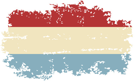 luxembourg: Luxembourg grunge flag. Vector illustration. Illustration