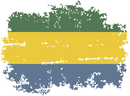 gabon: Gabon grunge flag. Vector illustration. Illustration