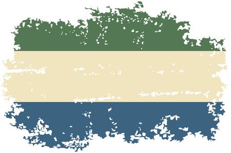 sierra leone: Sierra Leone grunge flag. Vector illustration. Illustration