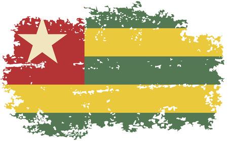 togo: Togo grunge flag. Vector illustration.