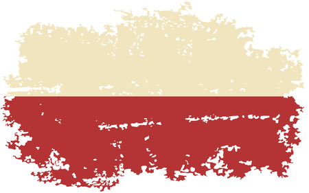polish flag: Polish grunge flag. Vector illustration.