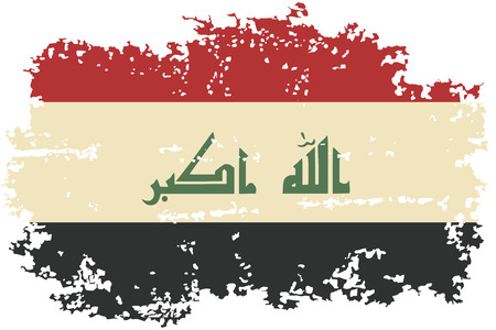 iraqi: Iraqi grunge flag. Vector illustration. Illustration