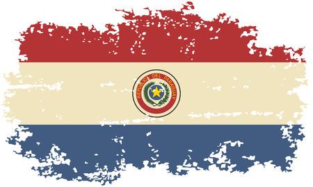 paraguayan: Paraguayan grunge flag. Vector illustration.