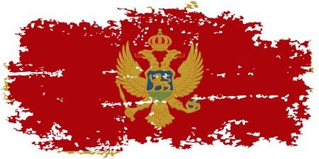 montenegro: Montenegro grunge flag. Vector illustration.