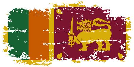 sri: Sri Lanka grunge flag. Vector illustration. Illustration