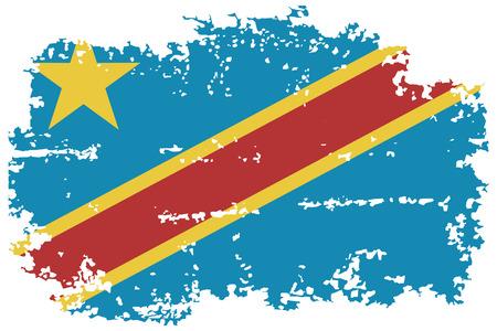 congo: Congo grunge flag. Vector illustration.