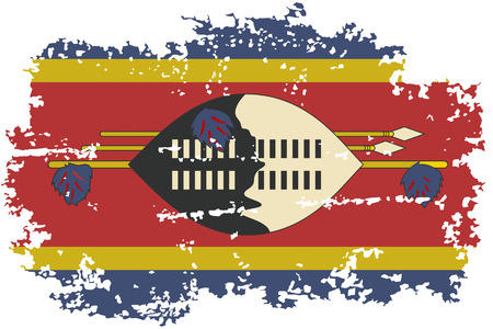 swaziland: Swaziland grunge flag. Vector illustration.