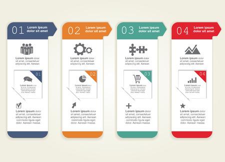 diagrama de procesos: Infografía. Ilustración vectorial Vectores