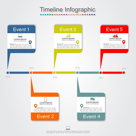 Timeline infographics. Vector illustration Vector