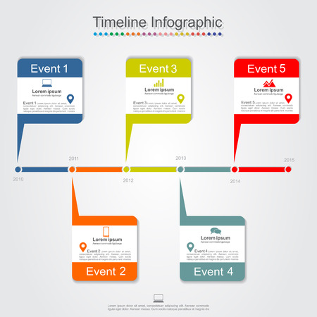 Timeline infographics. Vector illustration