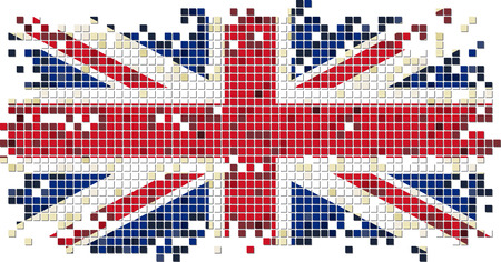 British grunge tile flag. Vector illustration Vector