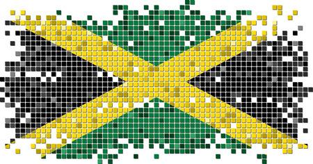 jamaican: El indicador jamaicano baldosas grunge. Ilustraci�n vectorial Vectores