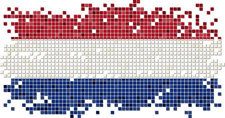 dutch tiles: Dutch grunge tile flag. Vector illustration Illustration
