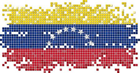 venezuelan: Bandera baldosas grunge venezolano. Ilustraci�n vectorial