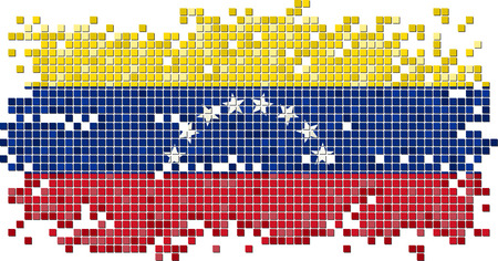 venezuelan: Venezuelan grunge tile flag. Vector illustration