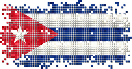 cuban flag: Cuban grunge tile flag. Vector illustration