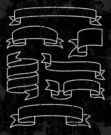 Set of banner ribbons. Vector illustration Vector