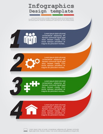 Abstract infographic. Vector illustration Eps8. Vector