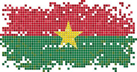burkina faso: Burkina Faso grunge tile flag. Vector illustration