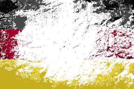 bandera alemania: Bandera de Alemania. Grunge fondo. Ilustraci�n vectorial