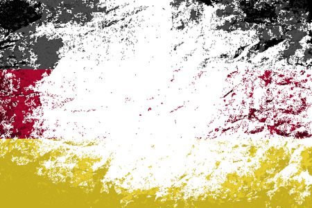 drapeau allemagne: Drapeau de l'Allemagne. Grunge background. Vector illustration