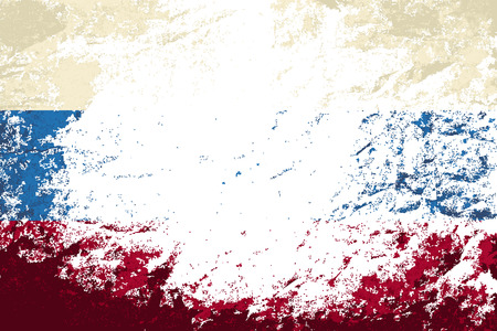 russian flag: Russian flag. Grunge background. Vector illustration Illustration