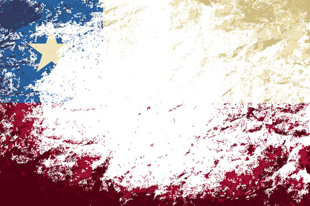 chilean flag: Bandera chilena. Grunge fondo. Ilustraci�n vectorial