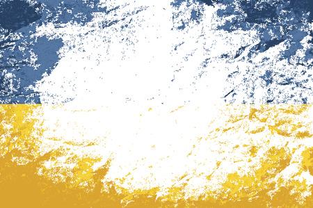 ukrainian: Ukrainian flag. Grunge background. Vector illustration